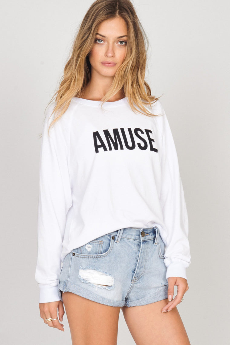 AMUSE SOCIETY Iconic Pullover White 33283