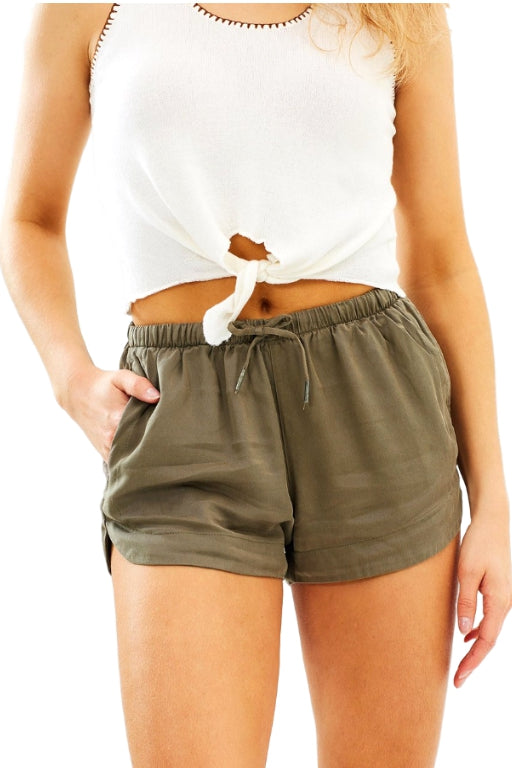 ALL ABOUT EVE Ivory Short Khaki 31904