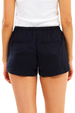 ALL ABOUT EVE Ivory Short Navy 31904