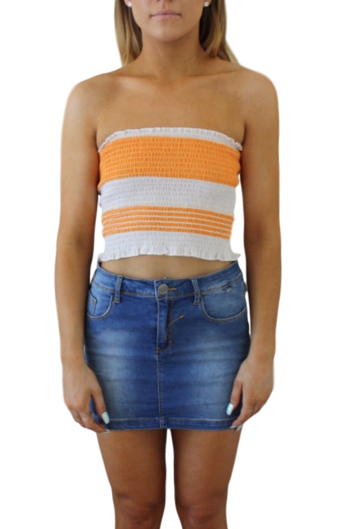 WEDNESDAYS PROJECT Jump Festival Top Orange/White 32773