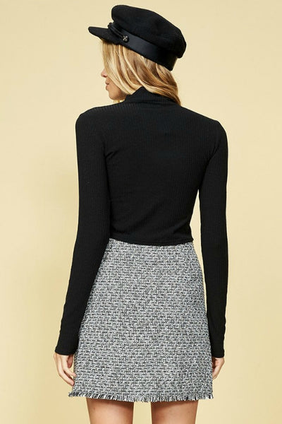 MINKPINK Beatrix Skirt Black/White 33196