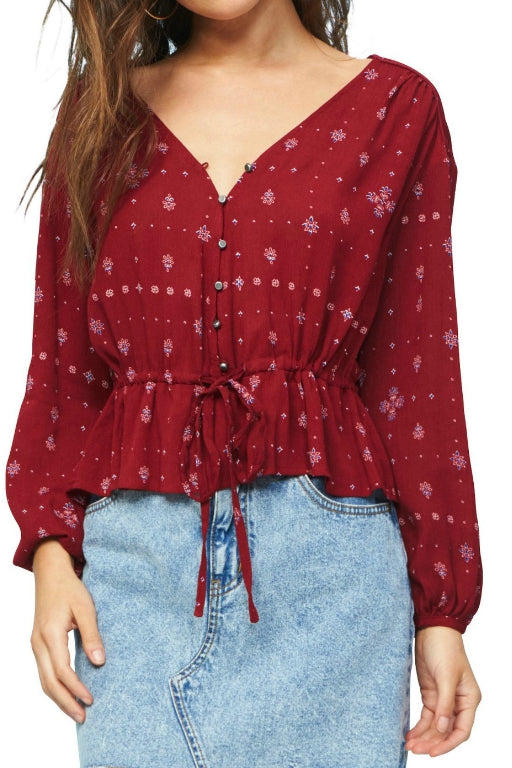 MINKPINK Sharpshooter Blouse Multi 32659