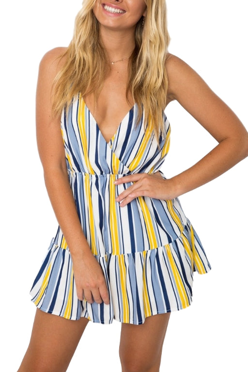 ASHA - Supa Dress Navy/Yellow 33217