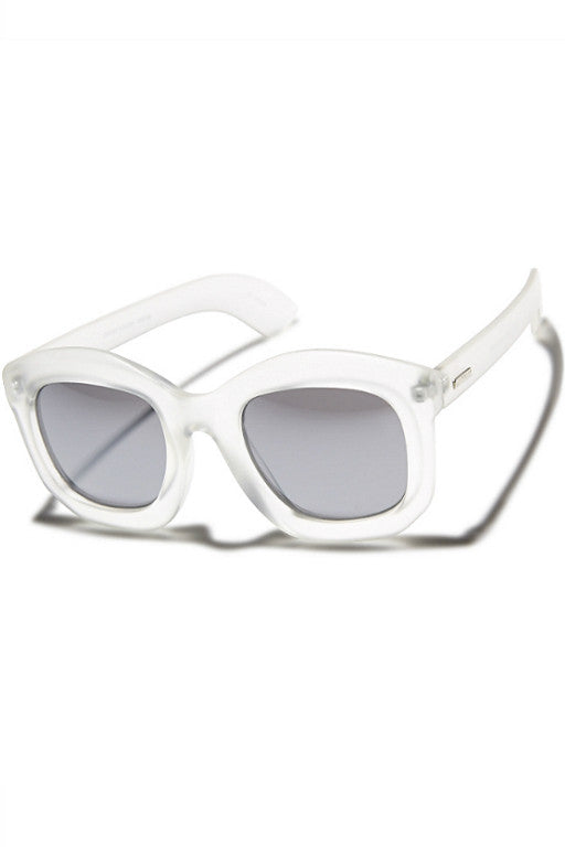 MINKPINK Crowd Pleaser Sunglasses White Frost 29144