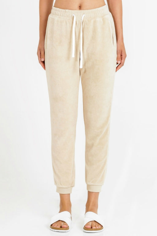 NUDE LUCY Garcia Velour Trackpant Sand 34038