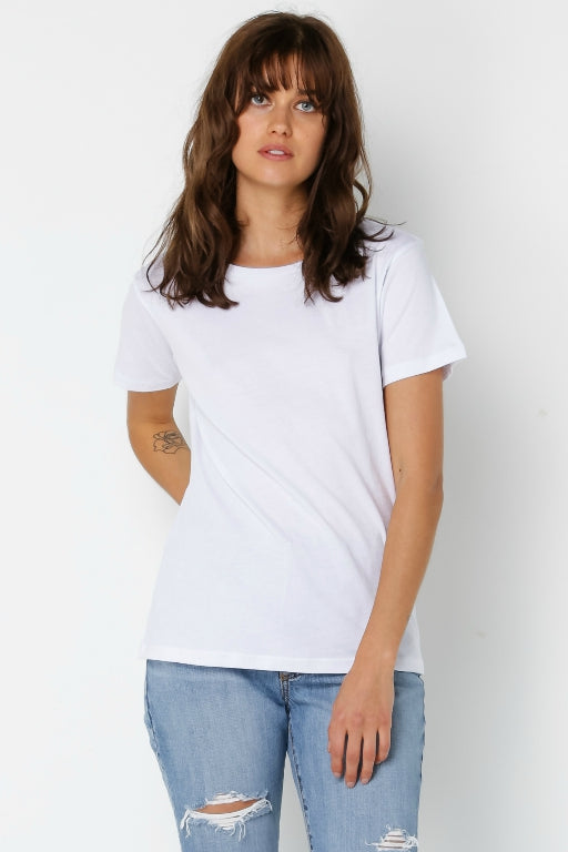 NUDE LUCY Harper Basic Crewneck Tee White 34148