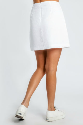 NUDE LUCY Malloy Skirt White 34304
