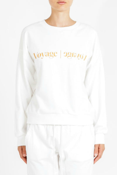 NUDE LUCY Voyage Slogan Sweat White 34034