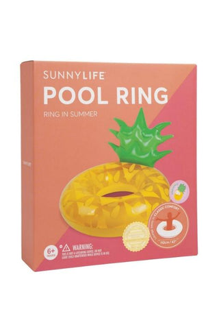 SUNNYLIFE Pineapple Pool Ring 32552