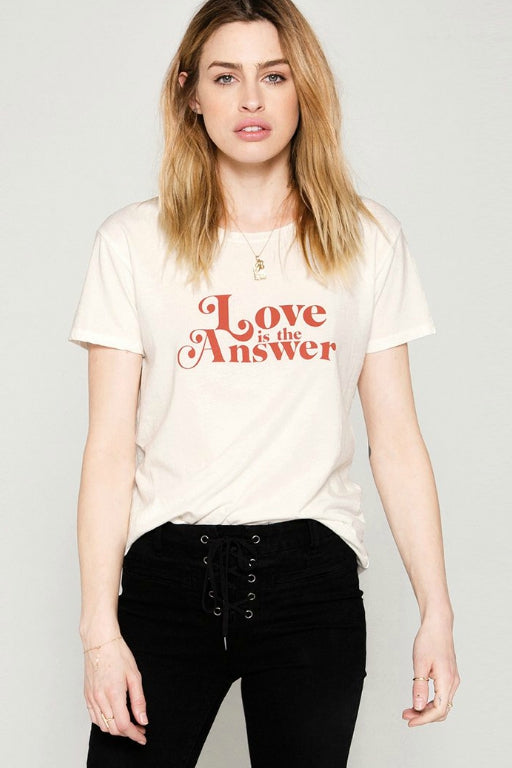 AMUSE SOCIETY Psych Love Tee White CBL 33168