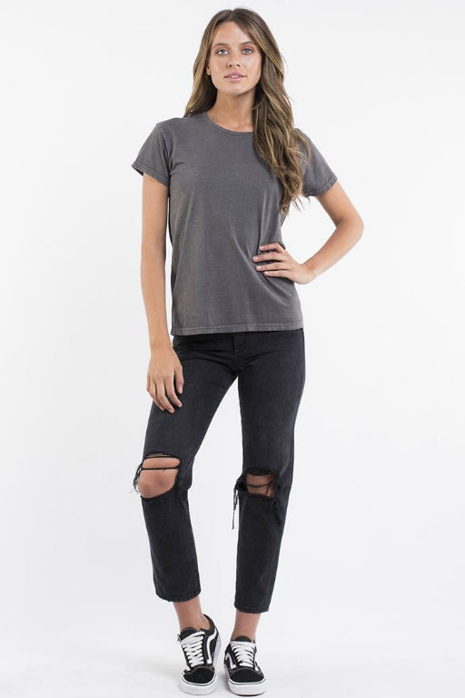 SILENT THEORY Polly Acid Tee Charcoal 33507