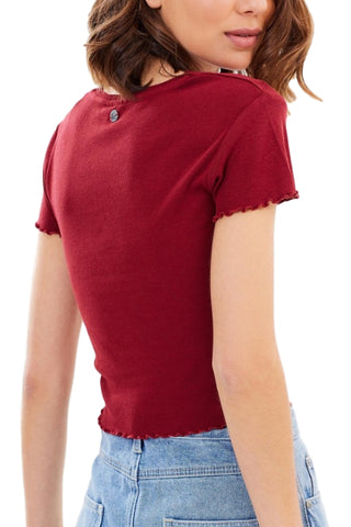 ALL ABOUT EVE Take You Away Tee Burgundy 31896