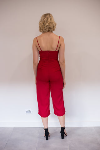 LUVALOT Perfect Jumpsuit Red 34343