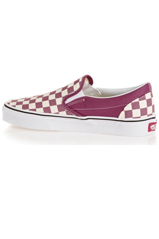 VANS Classic Checkerboard Slip-On Dry Rose/True White Pink 34364