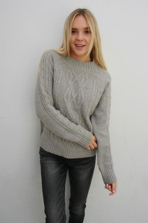 ASHA Winter Chill Knit Grey 33079
