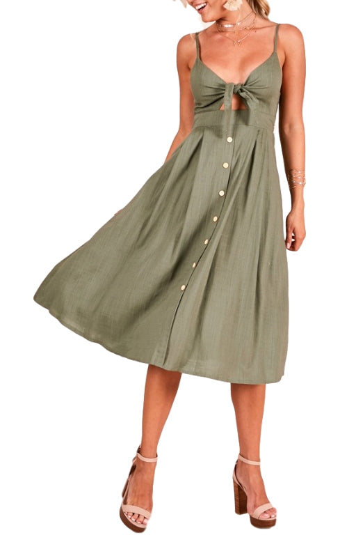 ASHA Wynona Dress Khaki 33218