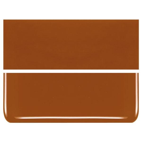 Burnt Orange COE 90 Bullseye 3mm Sheet Glass 3 Inch Square 047-329-3INSQ