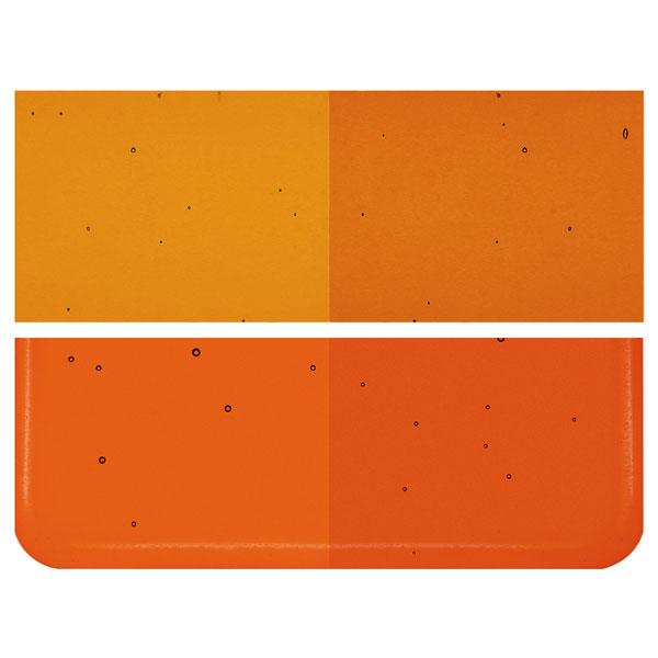 Carnelian Transparent COE 90 Bullseye 3mm Sheet Glass 3 Inch Square 075-1321-3INSQ