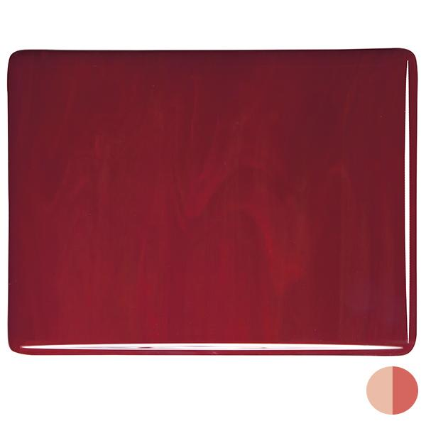 Deep Red COE 90 Bullseye 3mm Sheet Glass 3 Inch Square 037-224-3INSQ
