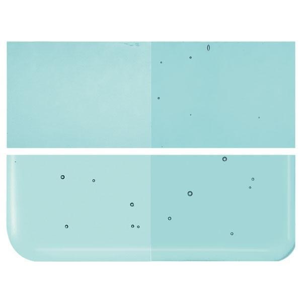 Light Aquamarine Transparent COE 90 Bullseye 3mm Sheet Glass 3 Inch Square 056-1408-3INSQ