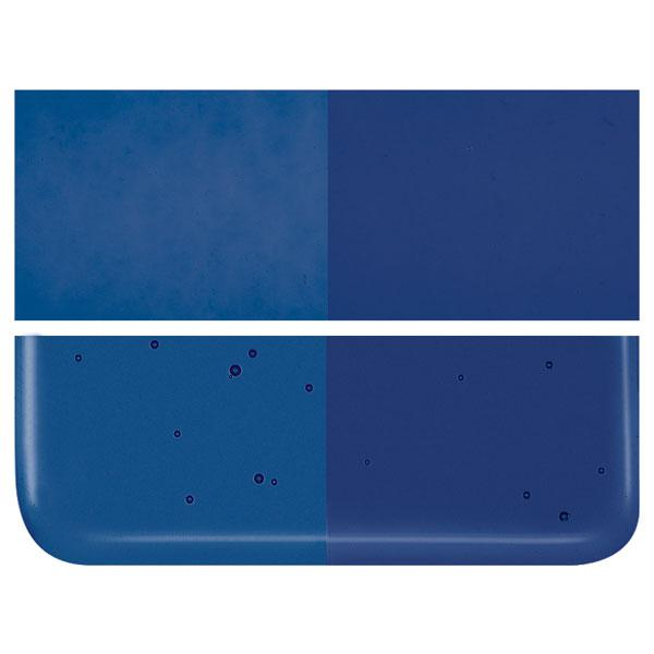Midnight Blue Transparent COE 90 Bullseye 3mm Sheet Glass 3 Inch Square 110-1118-3INSQ