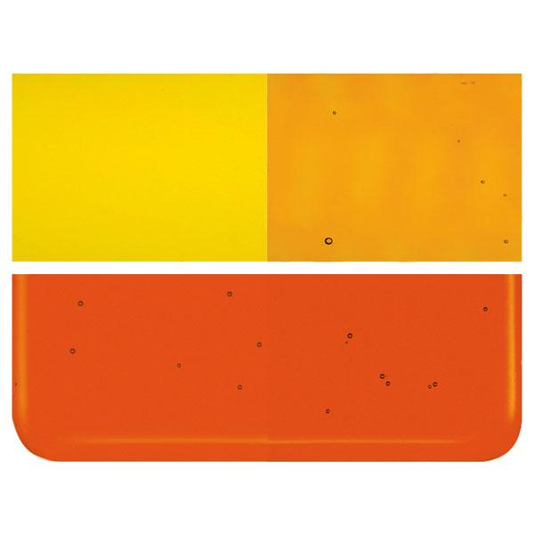 Orange Transparent COE 90 Bullseye 3mm Sheet Glass 3 Inch Square 076-1125-3INSQ