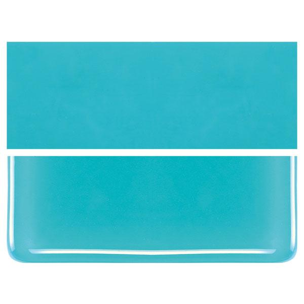 Turquoise Blue COE 90 Bullseye 3mm Sheet Glass 3 Inch Square 018-116-3INSQ