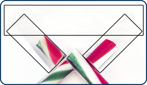 diagram how to make hook for fused glass christmas ornament