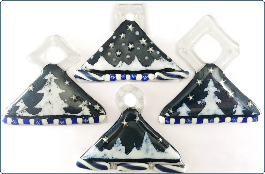 image of four ornaments, each slightly different