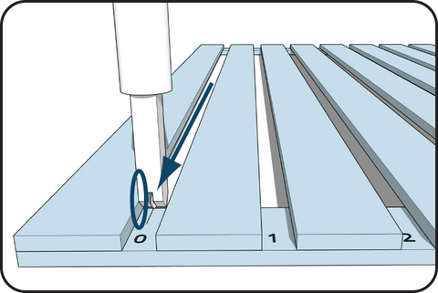 Illustration of a speedguide in use