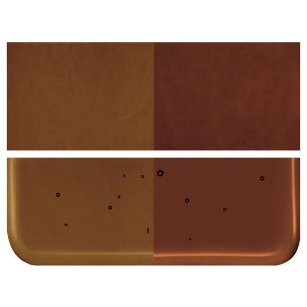 Dark Rose Brown Transparent COE 90 Bullseye 3mm Sheet Glass 3 Inch Square 114-1109-3INSQ