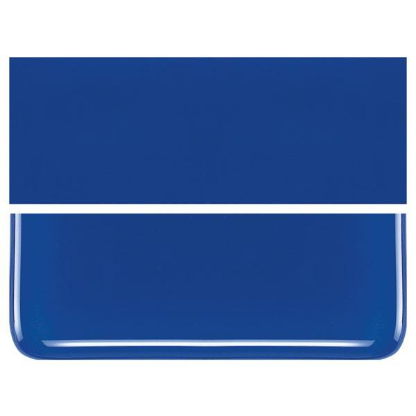 Deep Cobalt Blue COE 90 Bullseye 3mm Sheet Glass 3 Inch Square 027-147-3INSQ