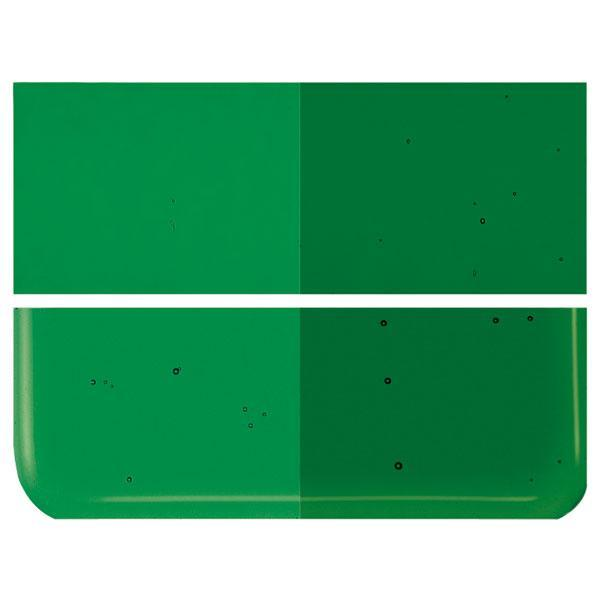 Kelly Green Transparent COE 90 Bullseye 3mm Sheet Glass 3 Inch Square 086-1145-3INSQ