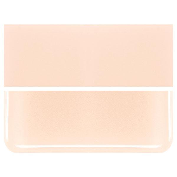 Light Peach Cream  COE 90 Bullseye 3mm Sheet Glass 3 Inch Square 009-34-3INSQ