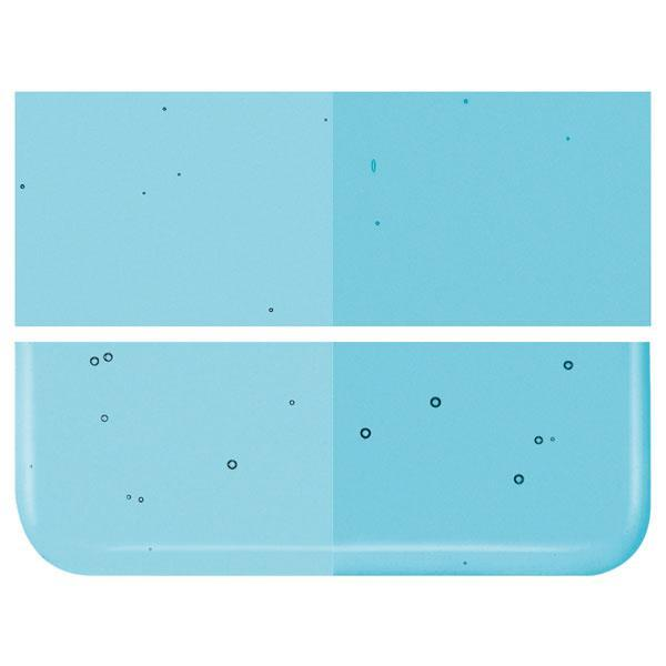 Light Turquoise Blue Transparent COE 90 Bullseye 3mm Sheet Glass 3 Inch Square 057-1416-3INSQ