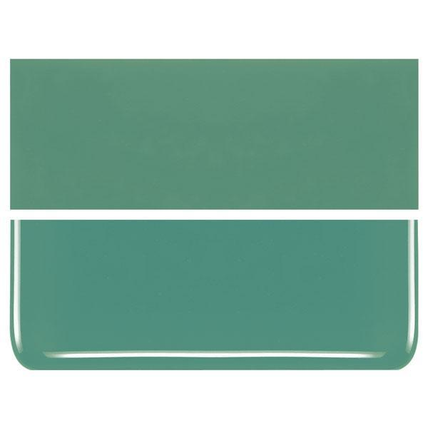 Mineral Green COE 90 Bullseye 3mm Sheet Glass 3 Inch Square 020-117-3INSQ