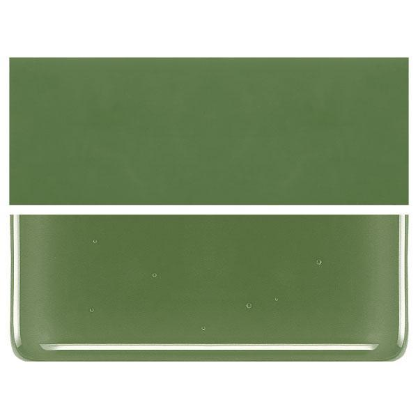 Olive Green COE 90 Bullseye 3mm Sheet Glass 3 Inch Square 015-212-3INSQ