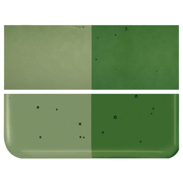 Olive Green Transparent COE 90 Bullseye 3mm Sheet Glass 3 Inch Square 087-1141-3INSQ