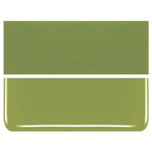 Pea Pod Green COE 90 Bullseye 3mm Sheet Glass 3 Inch Square 014-312-3INSQ