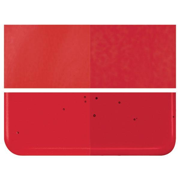 Red Transparent COE 90 Bullseye 3mm Sheet Glass 3 Inch Square 074-1122-3INSQ