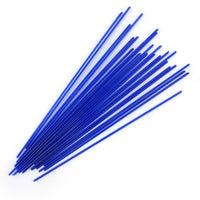 Deep Cobalt Blue Opalescent Stringer Sample S-0147-BE Bullseye Glass Stringer Sample Size
