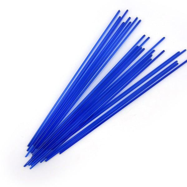 Deep Royal Blue Transparent Stringer Sample S-1114-BE Bullseye Glass Stringer Sample Size