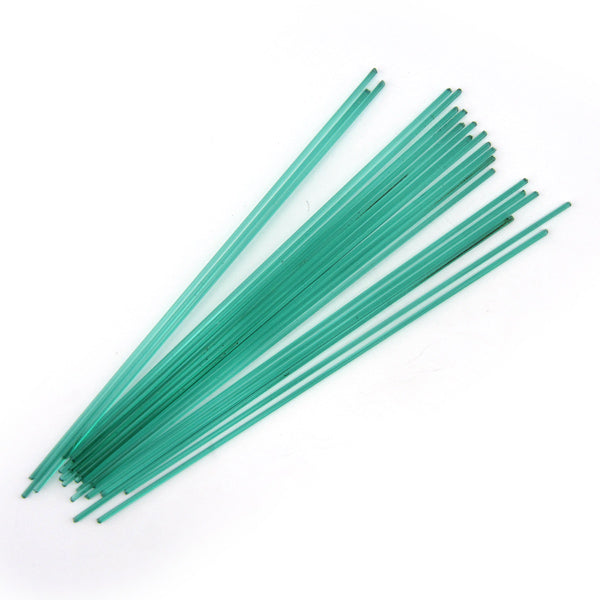 Emerald Green Transparent Stringer Sample S-1417-BE Bullseye Glass Stringer Sample Size