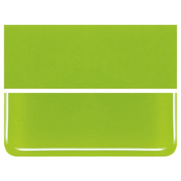 Spring Green COE 90 Bullseye 3mm Sheet Glass 3 Inch Square 013-126-3INSQ