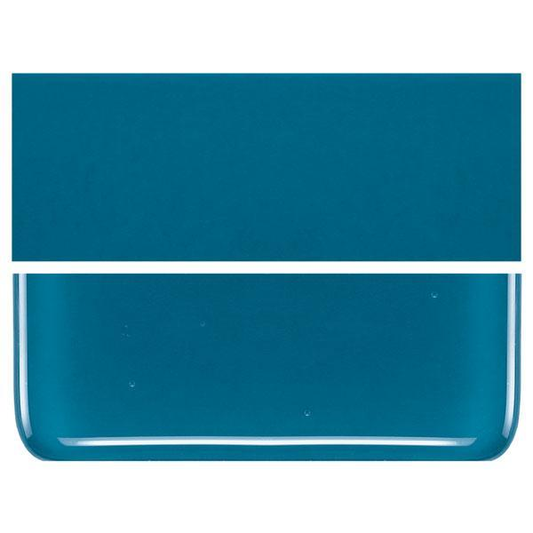 Steel Blue COE 90 Bullseye 3mm Sheet Glass 3 Inch Square 023-146-3INSQ