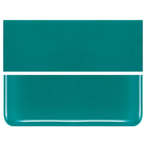 Teal Green COE 90 Bullseye 3mm Sheet Glass 3 Inch Square 019-144-3INSQ