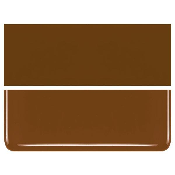 Umber COE 90 Bullseye 3mm Sheet Glass 3 Inch Square 049-310-3INSQ