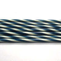 C101 Midnight Blue and French Vanilla Striped Cane COE 90 Glass