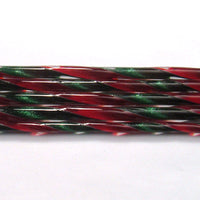 C201 Aventurine Green and Red Ribbon Cane C201COE 90 Glass