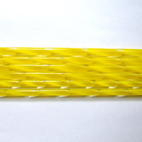 C220 Sunflower Yellow Ribbon Cane COE 90 Glass